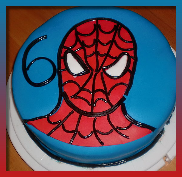 Spiderman kuchen bild