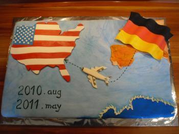 Amerika flagge kuchen