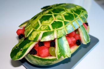 kreatives Obst Gemüse Kinder 1057877137