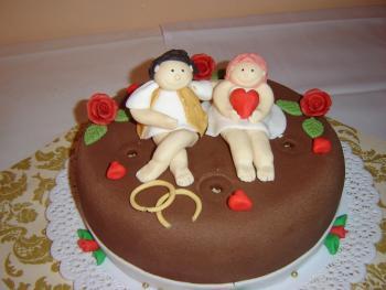 Meine Erste Echte Fondant Torte Pictures to pin on Pinterest