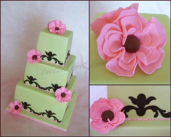 Hochzeitstorte in grün/pink  Motivtorten Fotos Forum  Chefkoch.de