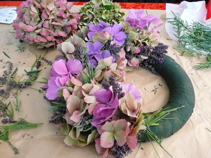 Hortensienblüte haltbar Gesteck 918976275