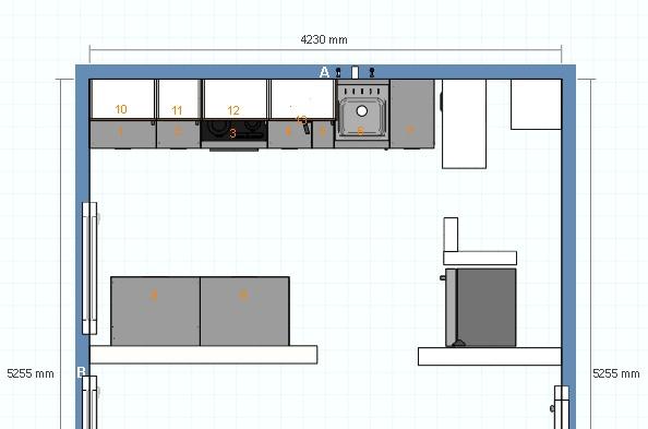 fliesen 45x45 dunkelgrau in eine ca 8 10qm k che k chenausstattung forum. Black Bedroom Furniture Sets. Home Design Ideas